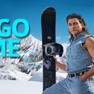 Jean claud Van damme snowboarding